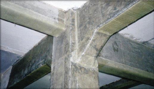 Углеволоконное сейсмоусиление колонн и балок
