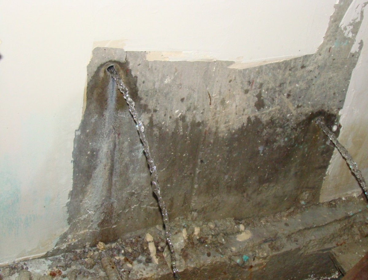 Течь в бетоне