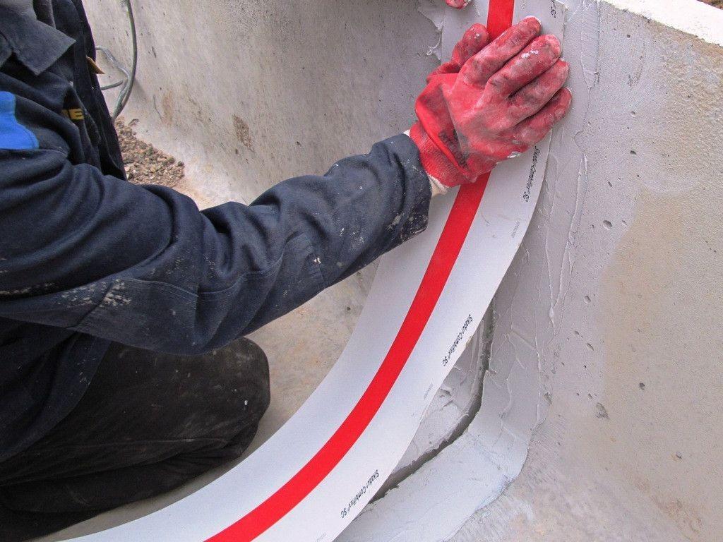 Монтаж ТПО-ленты для деформационных швов