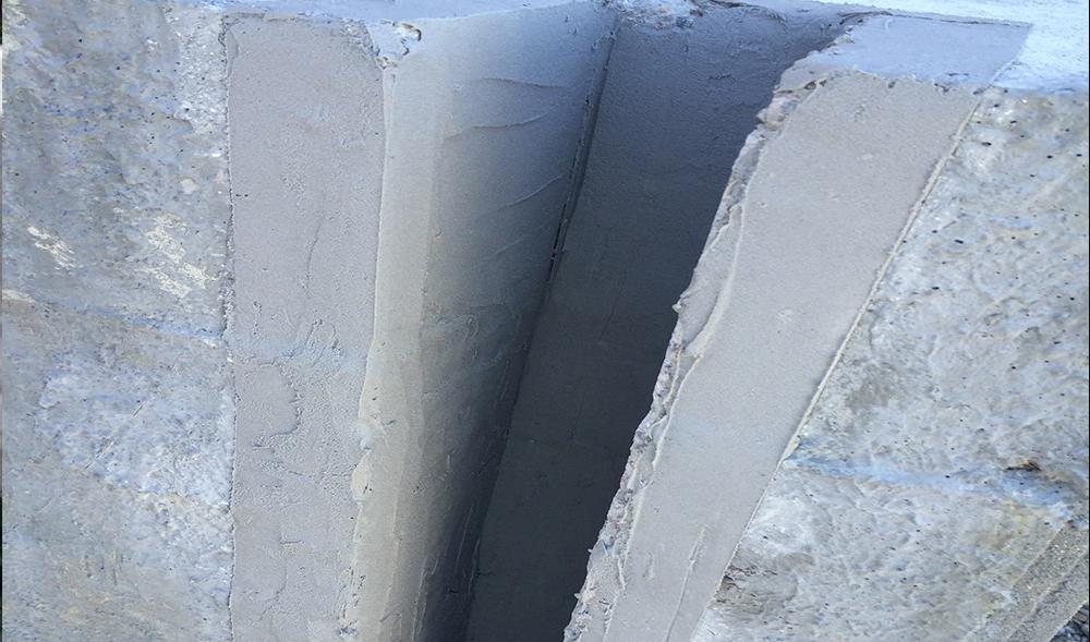 отремонтированная поверхность эпоксидным ремонтным составом