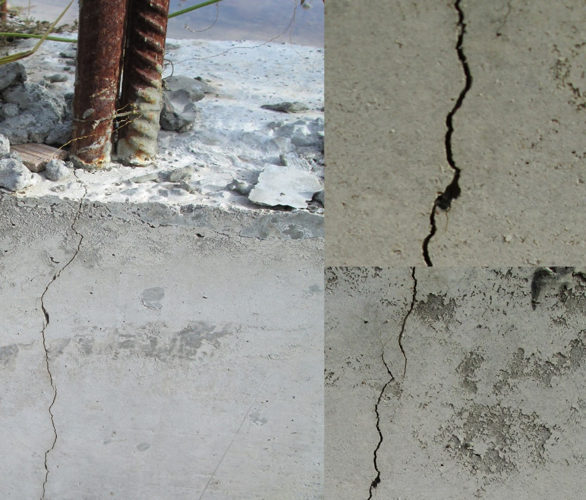 Трещины в бетонной колонне