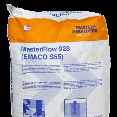 Смесь бетонная сухая безусадочная быстродействующая masterflow 928 цена карбонизации бетона